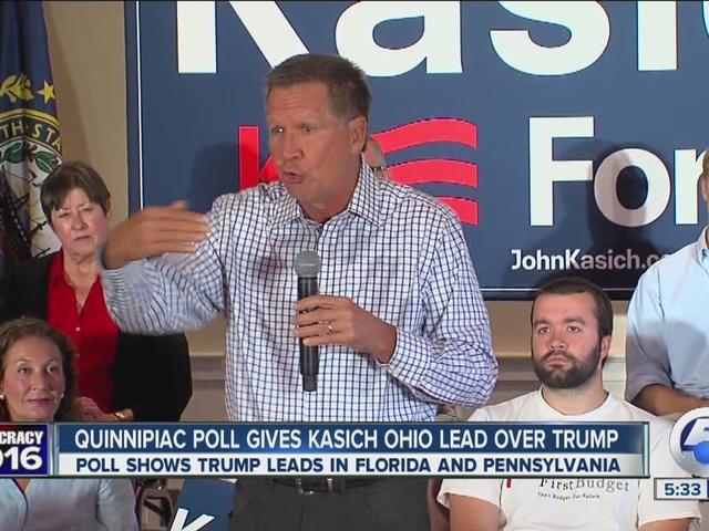 news ohio republican polls current latest polling numbers john kasich donald trump marco rubio favor