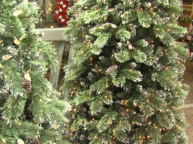 preDecorated Christmas Trees