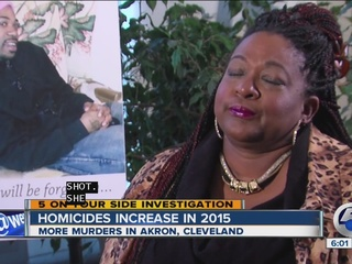 Homicide numbers up in many Ohio cities in 2015