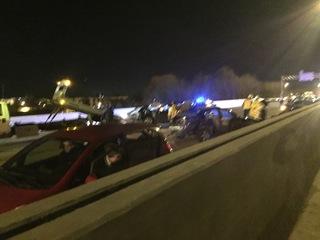 Interstate 71 back open after 8-car crash