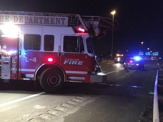 12-car crash, car fire tie up I-90