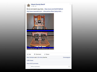 Sheriff posts on death penalty after cop killing