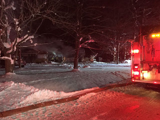 10 departments respond to Chesterland house fire
