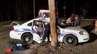 Canal Fulton Police officer crashes cruiser