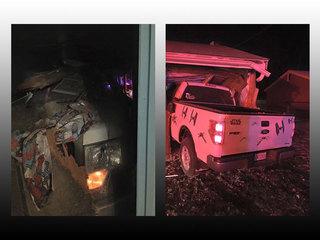 Pick-up truck runs into Brimfield Twp. home