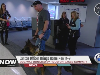 Homecoming for new Canton K-9 and officer
