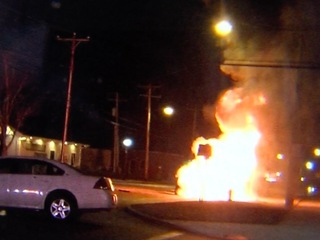 PD: Speeding car leads to fiery crash in Akron