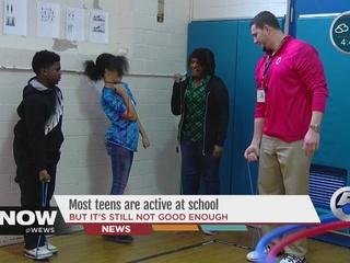Half of teens get their exercise in at school