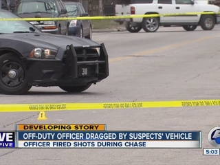 PD: Security guard dragged by car on east side