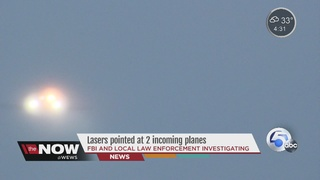 FBI investigates laser incidents at CLE airport