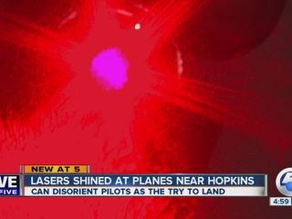 FBI investigating laser strikes at CLE airport