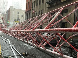 1 dead, 3 hurt after crane collapse in Manhattan