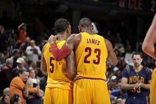 Irving, James lead Cavaliers past Pelicans 99-84