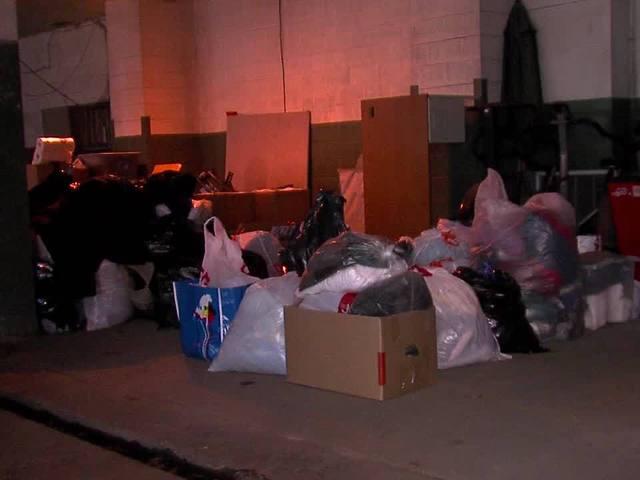 Homeless donations