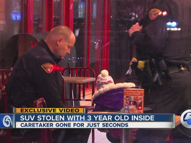 SUV w/ 3-year-old inside stolen from gas station