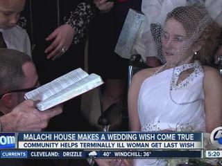 Wedding wish comes true for terminally ill woman