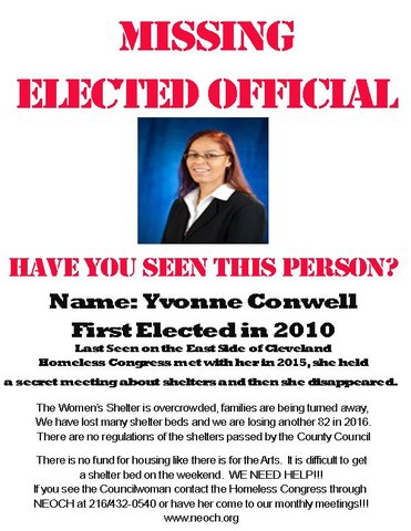 Missing persons flyer targets Cuyahoga County Councilwoman Yvonne