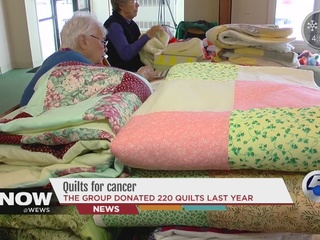 Women make, donate quilts to cancer patients
