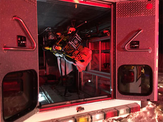 Ambulance flips while transporting patient