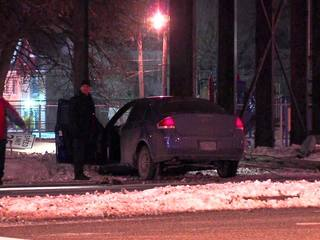 Driver injured after car hits pole in Cleveland