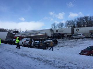 'Numerous' injuries in I-78 pileup in PA