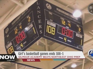 Basketball games ends 108-1