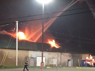 Fire at Indoor Gardens in Akron