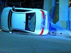 Why do cars flip on Center Street Swing Bridge?