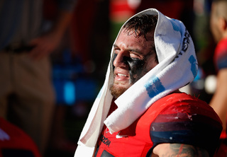 Newest Brown Scooby Wright weeps, leaps, barks