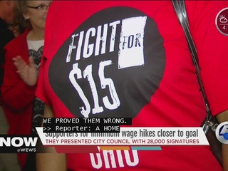 Supporters for minimum wage hikes closer to goal