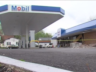 Explosion at Mobil gas station in Ashland