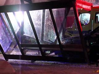 RTA bus shelter destroyed in crash