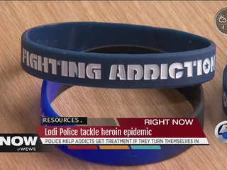 Heroin addicts turn themselves into police