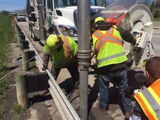 ODOT cleans storm drains on stretch of I-90