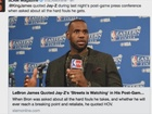 LeBron answers question...with rap lyrics