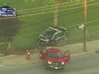 Cleveland police cruiser crashes into tree