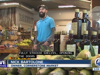 Cornerstone Market reopens one year after fire
