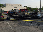 5 cars catch fire at Marc's in Parma