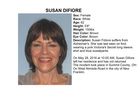 Missing adult alert canceled for Susan Difiore