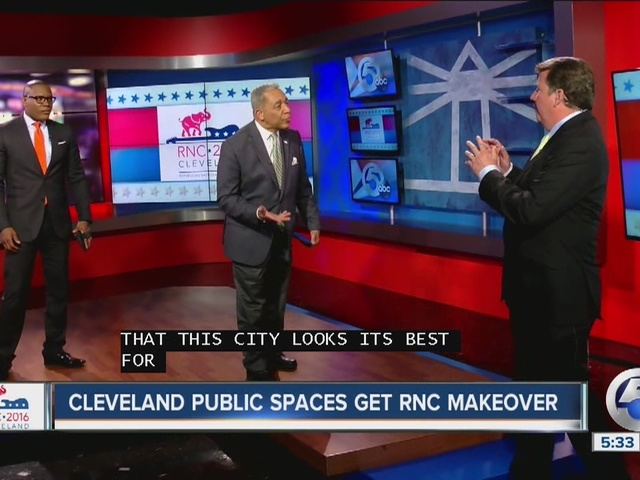 Beautification efforts underway in Cleveland ahead of the RNC