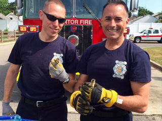 Mentor Fire rescues ducklings at Dairy Queen