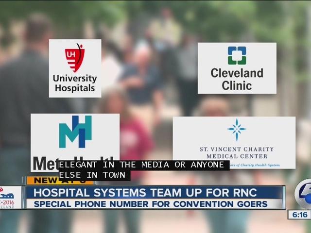 Cleveland hospitals team up for RNC