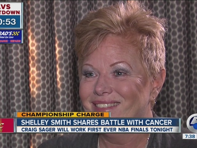 Shelley Smith, Craig Sager on the sidelines for Game 6 in Cleveland