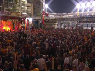 VIDEOS: Cavs fans cry, scream, fall over for win