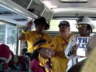 LeBron Grannies display pride at champ parade
