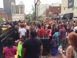 PHOTOS: Lock 3 filling up for LeBron Akron party