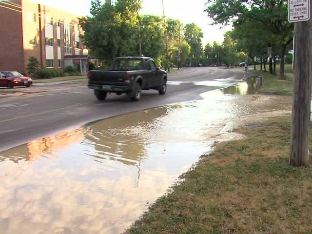 12-inch water main break at Lakeshore Blvd and Ingleside Road