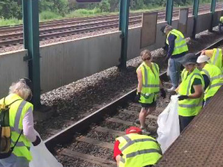 RTA staff and friends cleanup tracks for RNC