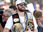 What's with Kevin Love's WWE belt?