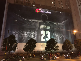 LeBron James banner is staying up through summer